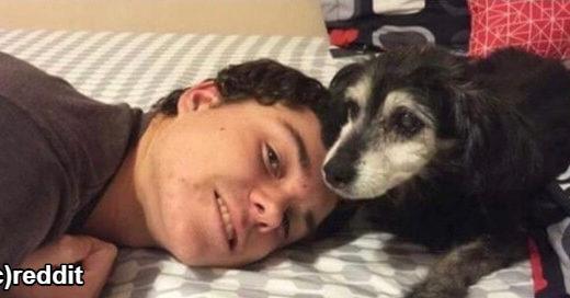【感動!】15年前と同じポーズで愛犬と撮った写真が話題【何歳になっても仲良しだよ】